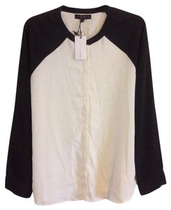 Sanctuary Clothing Button Down Shirt Black and White