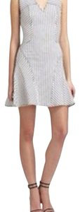 Derek Lam short dress White and charcoal gray on Tradesy