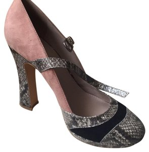 Hinge Pink, black and animal print. Platforms