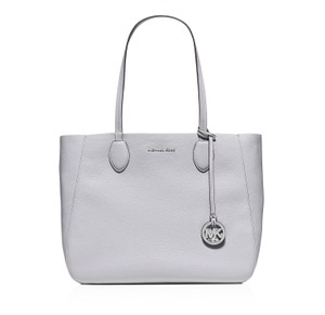 Michael Kors Mae Reversible Leather Tote in Dove / Lilac