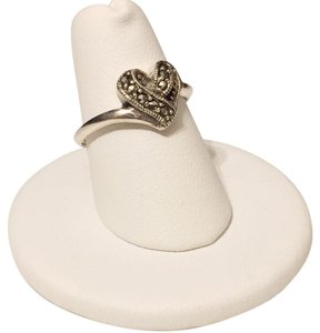 Heart Theme Marcasite 925 Sterling Silver Fashion Ring