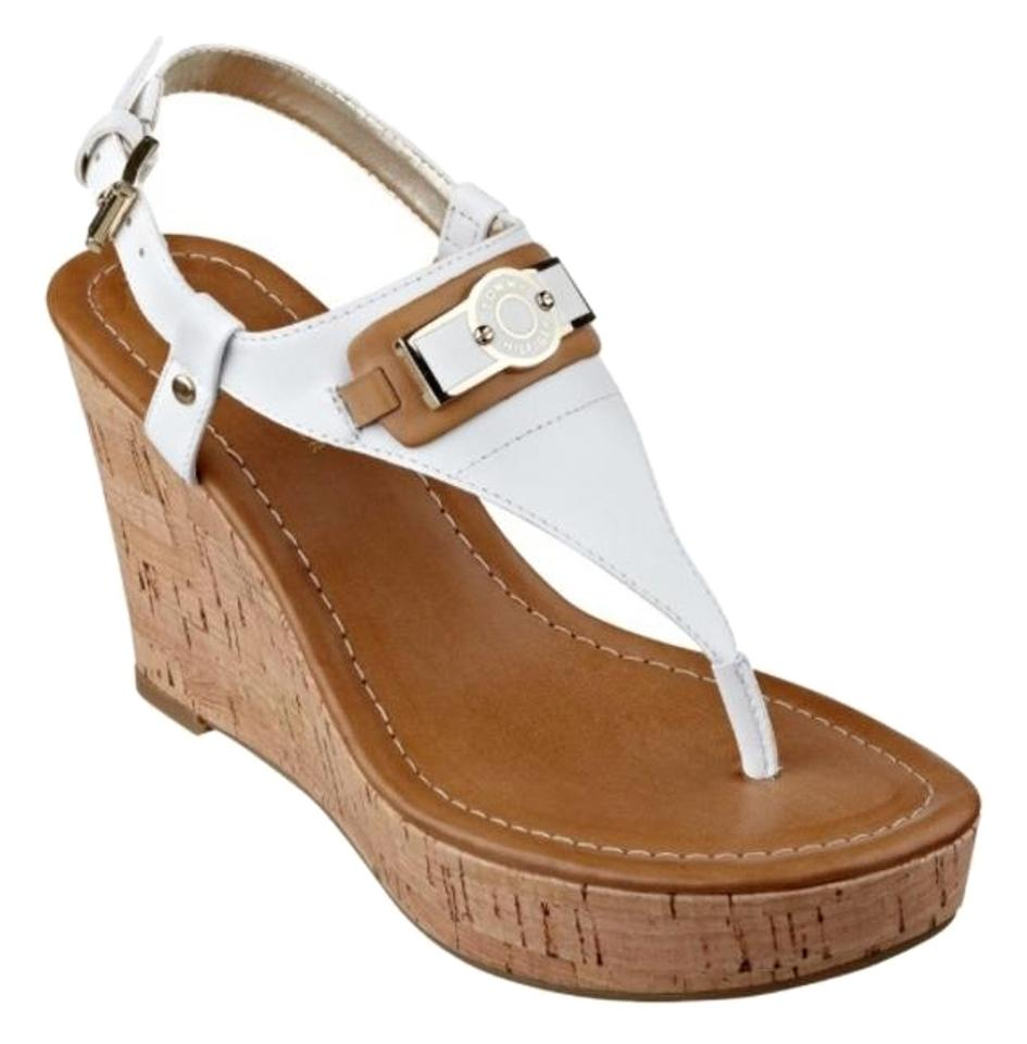 e711049aa67a Tommy Hilfiger White Wedges. Size  US 6 Regular (M ...
