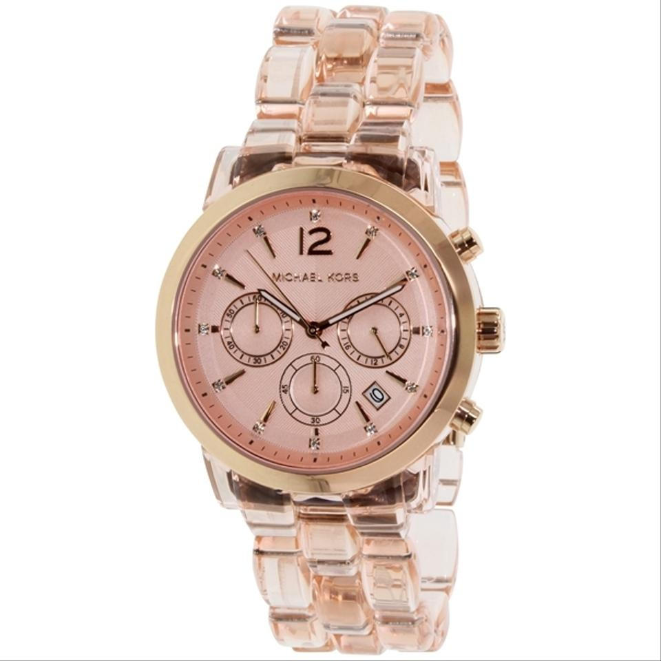 c0454d7f4e68 Michael Kors Michael Kors MK6203 Audrina Rose Gold Tone Acetate Chrono Watch  ...