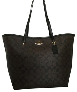 Coach Street Large Signature Tote in LIGHT GOLD/BROWN/BLACK