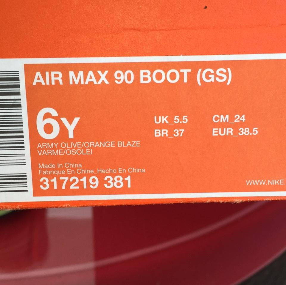 nike air max 90 youth size 6
