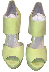 BCBGeneration Ultra lime suede Platforms