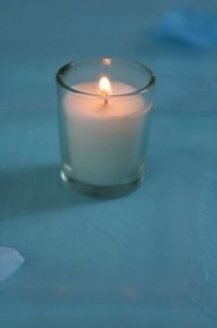 Candle FX Clear Glass White Votive/