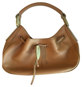 Tod's Brown Leather Handbag Satchel in Tan