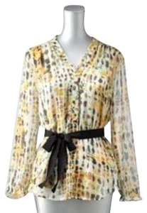 Simply Vera Vera Wang Belted Long Sleeve Top Yellow