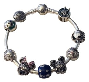 PANDORA Pandora Mickey Epcot Magic Kingdom Disney Charm Set of 5