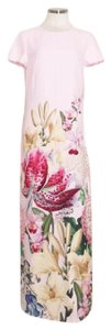 Pink Maxi Dress by Ted Baker Maxi Floral Shortsleeves