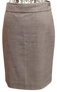 J.Crew Wool No. 2 Pencil Skirt Gray
