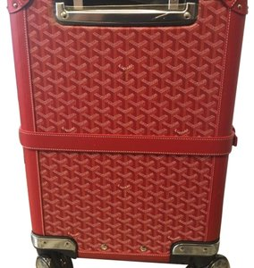Goyard Trolley Bourget PM Red Goyard Monogram Red Travel Bag