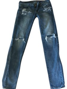 American Eagle Outfitters Distressed Jegging Skinny Jeans-Distressed