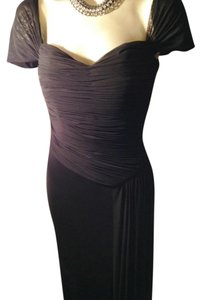 Vicky Tiel Formal Tie Wedding Waterfall Couture Dress