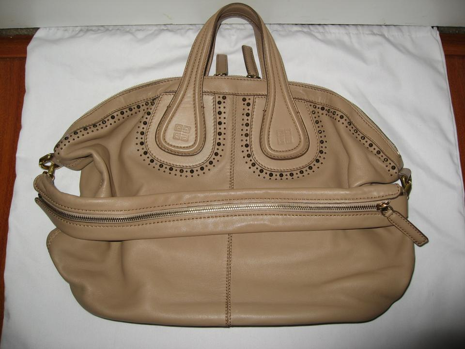 044d94d76b4e Givenchy Nightingale Medium Studded Lambskin Beige Leather Tote - Tradesy