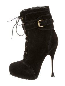 Brian Atwood Fall Stiletto Black Suede Boots