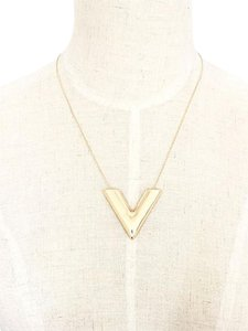 Other Gold V Pendant Necklace
