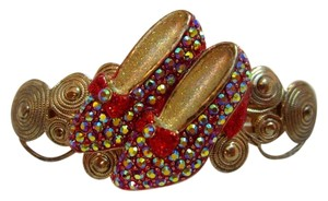 Kirks Folly Ruby Slippers Red Shoes Barrette Wizard of Oz Hair Clip Very Rare!