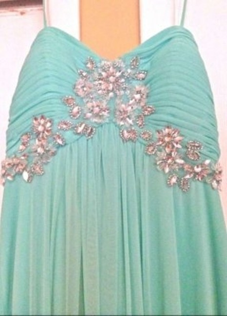 Xscape Prom Aqua Long Dress