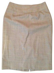J.Crew Suiting Super 120's Wool Pencil Skirt Gray