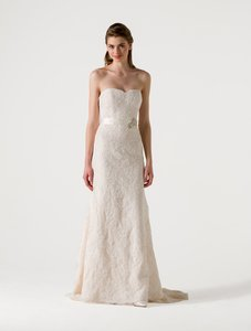 Anne Barge Pearl (Light Ivory) with Blush Corded Lace Eden Formal Wedding Dress Size 10 (M)