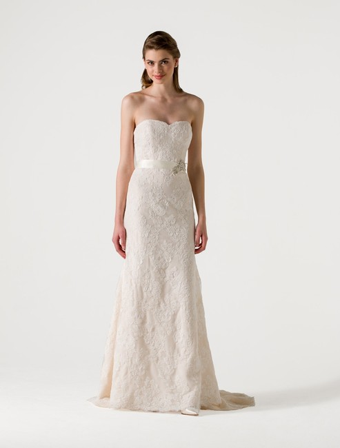 Item - Pearl (Light Ivory) with Blush Corded Lace Eden Formal Wedding Dress Size 10 (M)