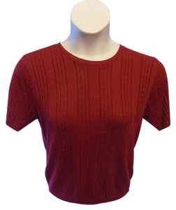 Alfred Dunner Petite Casual Solid Crewneck Sweater