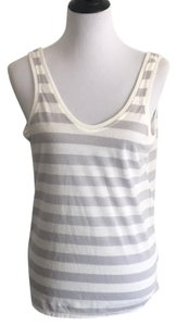 Victoria's Secret Top Gray and white striped