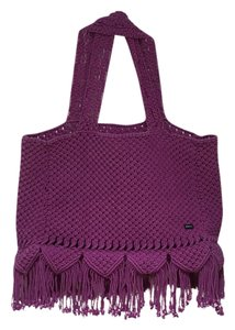RVCA Purple Beach Bag