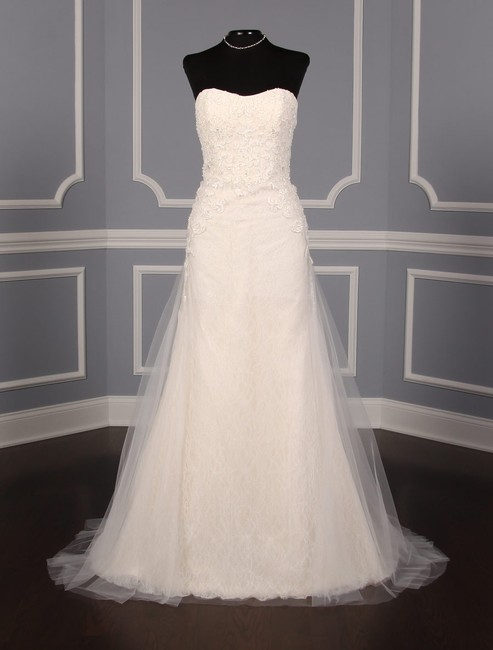 Item - Very Light Blush Chantilly and Alencon Lace Camillia Formal Wedding Dress Size 10 (M)