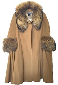 Adrienne Landau Oversized Cashmere Fall Fur Coat