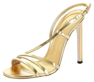 Gucci Leather Ankle-strap 324251 Gold Sandals