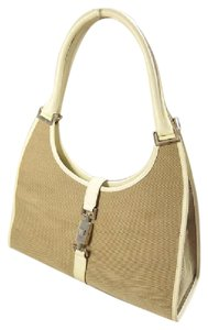 Gucci Jackie Chrome Hardware 'bardot' Style Excellent Condition Hobo Bag