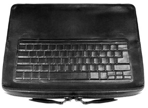 Natalia Brilli Leather Lambskin Case Laptop Bag