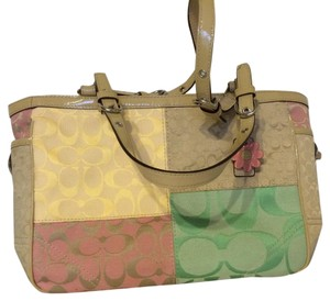 Coach Tote in Pink, Yellow, Mint & Cream All Pastelcolor