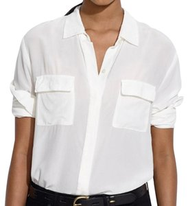 Madewell Silk Top White