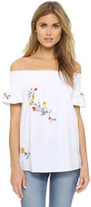 Tory Burch Dvf Isabel Marant Tibi Zimmermann Lela Rose Top White