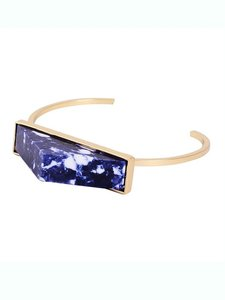 Other Blue Marble Pyramid Bracelet