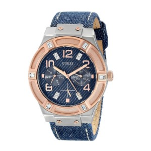 Guess GUESS Denim Dial Blue Denim Leather Backed Strap Ladies Watch U0289L1