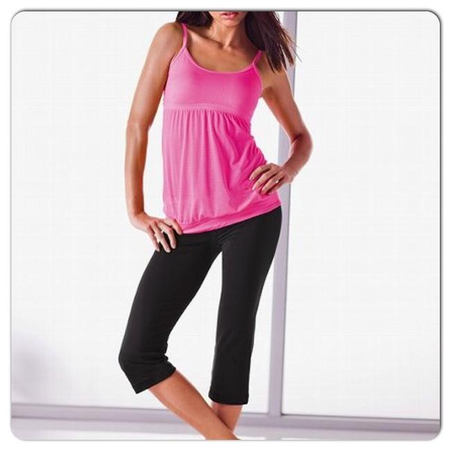 Item - Hot Pink Pointelle Activewear Top Size 8 (M, 29, 30)