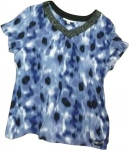 JM Collection Top Blue