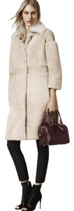 Burberry Prorsum Shearling Suede Coat
