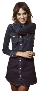 AG Adriano Goldschmied short dress Denim blue Alexa Chung Pixie on Tradesy