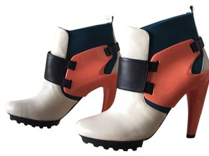 United Nude White Peach Teal Boots