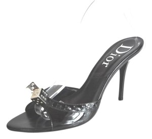 Dior Patent Leather Black Sandals