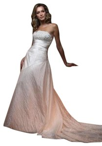 Casablanca Ivy Parchment Organza 1819 Feminine Wedding Dress Size 10 (M)