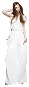 Alice + Olivia Wide Leg Pants White