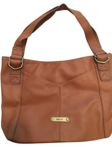 Relic Hobo Tote in Cognac / Light Brown