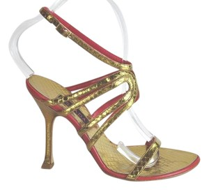 Escada Size 36.5 Ankle Strap Multi-Color Sandals